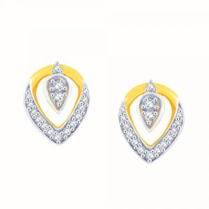 Hoop,Asmi,Kalazone,Unimod,Jpearls,Parineeta Diamond Jewellery - Asmi Yellow Gold Diamond Earrings PE0421SI-JK18Y