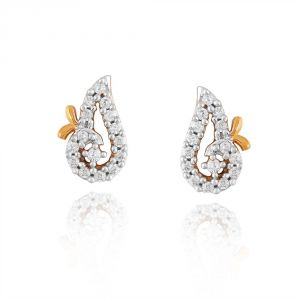 Vipul,Tng,Sangini,Clovia Women's Clothing - Sangini Yellow Gold Diamond Earrings PE10685SI-JK18Y