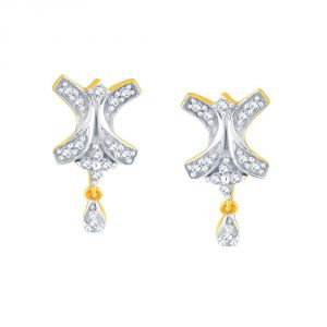 Asmi,Kalazone,Tng,Soie,Jpearls,Sukkhi,Azzra Women's Clothing - Asmi Yellow Gold Diamond Earrings PE10688SI-JK18Y