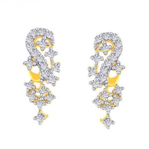 La Intimo,Shonaya,Sangini Diamond Jewellery - Sangini Yellow Gold Diamond Earrings PE10935SI-JK18Y