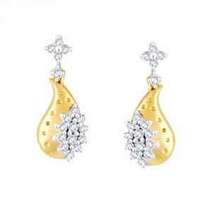Nirvana Yellow Gold Diamond Earrings Pe10951si-jk18y