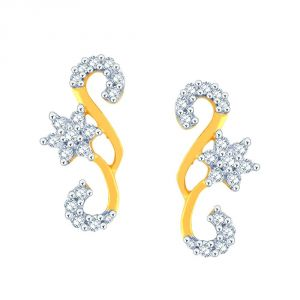 Asmi,Jpearls,N gal,Estoss Women's Clothing - Asmi Yellow Gold Diamond Earrings PE11922SI-JK18Y