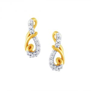Gili Yellow Gold Diamond Earrings Pe12052si-jk18y