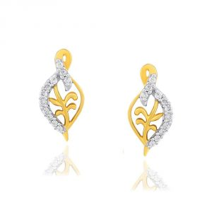 Triveni,Jagdamba,Asmi,Kalazone Women's Clothing - Asmi Yellow Gold Diamond Earrings PE12177SI-JK18Y