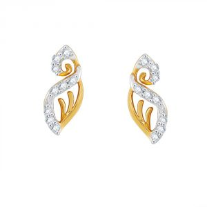 Vipul,Port,Fasense,Triveni,The Jewelbox,Gili,Tng Women's Clothing - Gili Yellow Gold Diamond Earrings PE12178SI-JK18Y