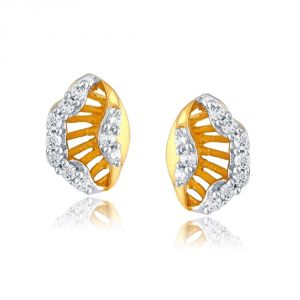 Nirvana Yellow Gold Diamond Earrings Pe13096si-jk18y