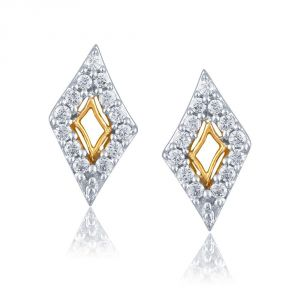 Vipul,Tng,Sangini,Clovia,Shonaya,Bikaw Women's Clothing - Sangini Yellow Gold Diamond Earrings PE13130SI-JK18Y