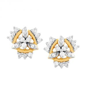 Triveni,Pick Pocket,Shonaya,Jpearls,Sangini Diamond Jewellery - Sangini Yellow Gold Diamond Earrings PE13726SI-JK18Y