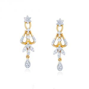 Nakshatra Yellow Gold Diamond Earrings Pe14588si-jk18y