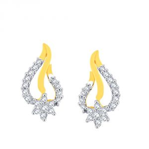 Asmi,Sukkhi,Triveni,Jharjhar,Unimod,Clovia,Cloe,The Jewelbox,Flora Diamond Jewellery - Asmi Yellow Gold Diamond Earrings PE15052SI-JK18Y