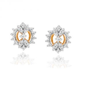 Sangini Yellow Gold Diamond Earrings Pe15845si-jk18y