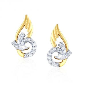 Gili Yellow Gold Diamond Earrings Pe16651si-jk18y