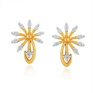 Arpera,Tng,Sangini Women's Clothing - Sangini Yellow Gold Diamond Earrings PE16672SI-JK18Y