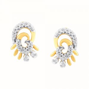 Soie,Port,Ag,Asmi,Bagforever,Platinum Women's Clothing - Asmi Yellow Gold Diamond Earrings PE16737SI-JK18Y