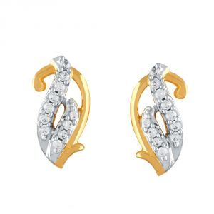 Kiara,Sukkhi,Jharjhar,Fasense,Jagdamba,Mahi,Jpearls,Asmi Women's Clothing - Asmi Yellow Gold Diamond Earrings PE16770SI-JK18Y