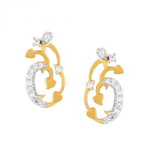 Asmi,Platinum,Ivy,Unimod,Clovia,Diya Women's Clothing - Asmi Yellow Gold Diamond Earrings PE16979SI-JK18Y