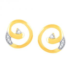 Kiara,Fasense,Flora,Triveni,Valentine,Estoss,Diya,Gili Diamond Jewellery - Gili Yellow Gold Diamond Earrings PE17139SI-JK18Y