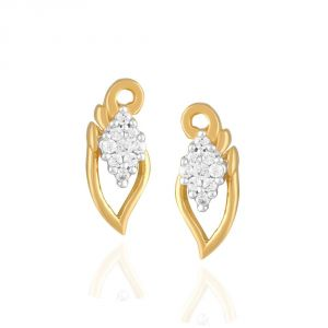 Lime,Surat Tex,Soie,Avsar,Unimod,Asmi Diamond Jewellery - Asmi Yellow Gold Diamond Earrings PE17653SI-JK18Y