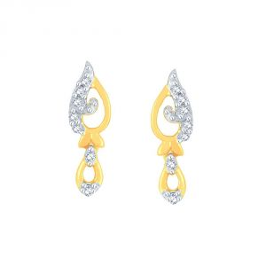 Hoop,Asmi,Kalazone,Unimod,Jpearls,Tng,Kiara Precious Jewellery - Asmi Yellow Gold Diamond Earrings PE17765SI-JK18Y
