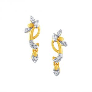 Asmi,Platinum,Ivy,Unimod,Ag,Bagforever,Tng Women's Clothing - Asmi Yellow Gold Diamond Earrings PE17768SI-JK18Y