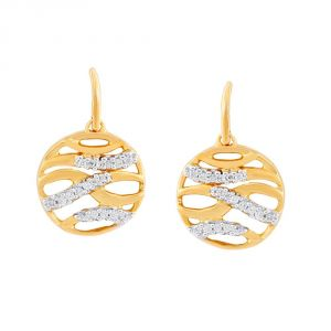 Asmi,Sukkhi,Triveni,Mahi,Gili,Surat Tex,Pick Pocket Women's Clothing - Asmi Yellow Gold Diamond Earrings PE17887SI-JK18Y