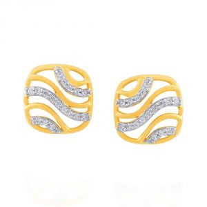 Asmi,Platinum,Ivy,Unimod Diamond Jewellery - Asmi Yellow Gold Diamond Earrings PE17976SI-JK18Y