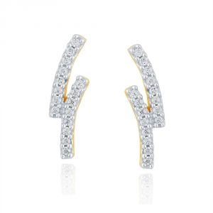 Vipul,Pick Pocket,Kaamastra,Soie,Asmi,Bikaw,Tng Diamond Jewellery - Asmi Yellow Gold Diamond Earrings PE17995SI-JK18Y