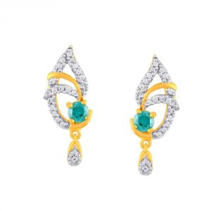Rcpc,Kalazone,Jpearls,Parineeta,Bagforever,Clovia,Shonaya,Flora,Sleeping Story Women's Clothing - Parineeta Yellow Gold Diamond Earrings PE18935SI-JK18Y