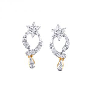 Asmi,Platinum,Ivy,Unimod,Ag,Bagforever,Tng Women's Clothing - Asmi Yellow Gold Diamond Earrings PE19326SI-JK18Y