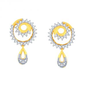 Asmi,Jpearls Women's Clothing - Asmi Yellow Gold Diamond Earrings PE19684SI-JK18Y