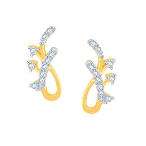 Hoop,Asmi,Kalazone,Tng,Lime,Ag Women's Clothing - Asmi Yellow Gold Diamond Earrings PE20537SI-JK18Y