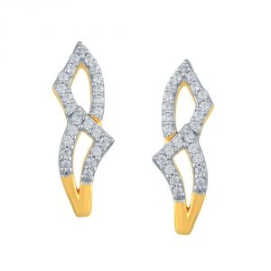Rcpc,Asmi Women's Clothing - Asmi Yellow Gold Diamond Earrings PE21093SI-JK18Y