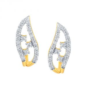 Rcpc,Sukkhi,La Intimo,Estoss,Asmi Women's Clothing - Asmi Yellow Gold Diamond Earrings PE21094SI-JK18Y