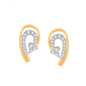 Asmi,Sukkhi,Triveni,Jharjhar,Unimod,Clovia,Cloe,The Jewelbox,Flora Diamond Jewellery - Asmi Yellow Gold Diamond Earrings PE21283SI-JK18Y