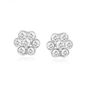 Nakshatra Yellow Gold Diamond Earrings Pwder140si-jk18y
