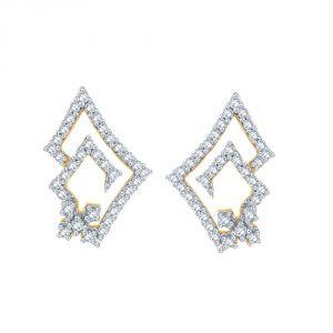 Gili Jewellery - Gili Yellow Gold Diamond Earrings PWDPSE139SI-JK18Y