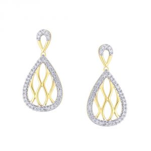 Shuddhi Yellow Gold Diamond Earrings Rde00230si-jk18y