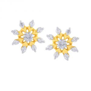 Nakshatra Yellow Gold Diamond Earrings Yem268si-jk18y
