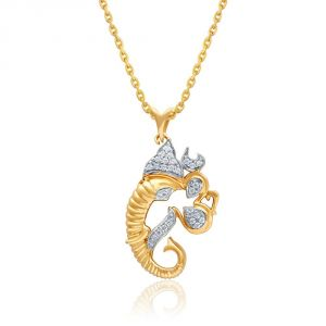 Saumya Yellow Gold Diamond Pendant Atr1p006si-jk18y