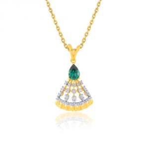 Kiara,Sukkhi,Ivy,Parineeta,Cloe Diamond Jewellery - Parineeta Yellow Gold Diamond Pendant BAP010SI-JK18Y