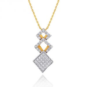 Nirvana Yellow Gold Diamond Pendant Ddp20907si-jk18y