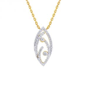 Sangini Yellow Gold Diamond Pendant Ddp20908si-jk18y