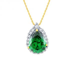 Vipul,Oviya,Soie,Kaamastra,Parineeta Diamond Jewellery - Parineeta Yellow Gold Diamond Pendant EP196SI-JK18Y