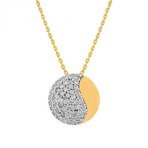Sangini Yellow Gold Diamond Pendant Ep517si-jk18y