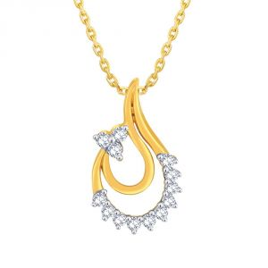 Triveni,Sangini,Gili,Sukkhi,Estoss Women's Clothing - Gili Yellow Gold Diamond Pendant EP686SI-JK18Y