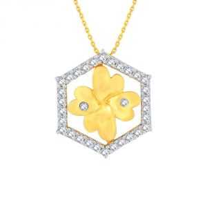Sangini,Lime Women's Clothing - Sangini Yellow Gold Diamond Pendant EP713SI-JK18Y