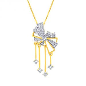 Kiara,Sukkhi,Ivy,Avsar,Sangini,The Jewelbox Women's Clothing - Sangini Yellow Gold Diamond Pendant EP732SI-JK18Y