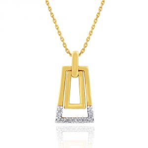 Soie,Flora,Oviya,Asmi,Estoss Women's Clothing - Asmi Yellow Gold Diamond Pendant GP140SI-JK18Y