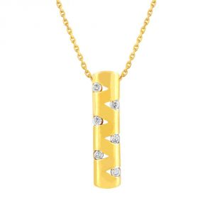 Nirvana Yellow Gold Diamond Pendant Gpp726si-jk18y