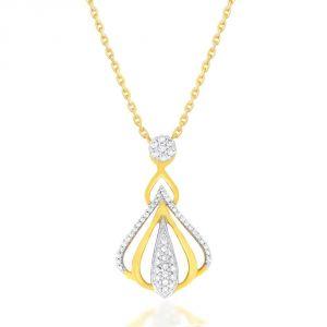 Diamond Pendants, Sets - Nirvana Yellow Gold Diamond Pendant IPK929SI-JK18Y